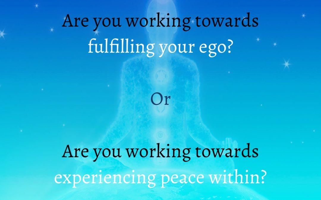 Peace over Ego